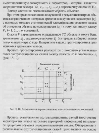 Диагностирование и прогнозирование ТС объектов методом статистической классификации (распознавание образов)