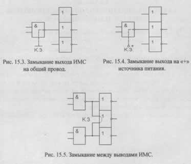 Виды неисправностей интегральных микросхем