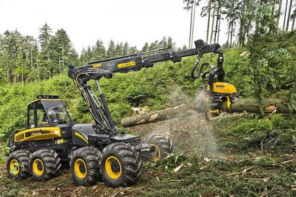 Обзор лесозаготовительной машины Харвестер