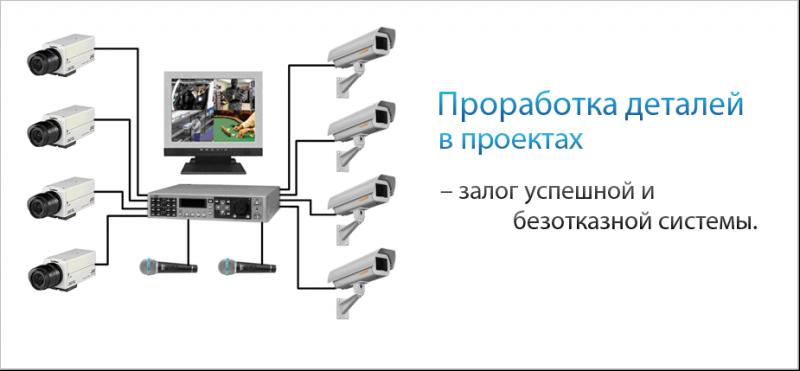 Система видеонаблюдения и звукового оповещения