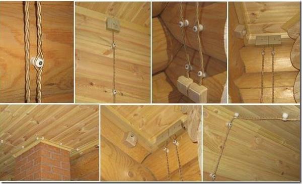 Ретро проводка для дома из бревна – абсолютно современное решение