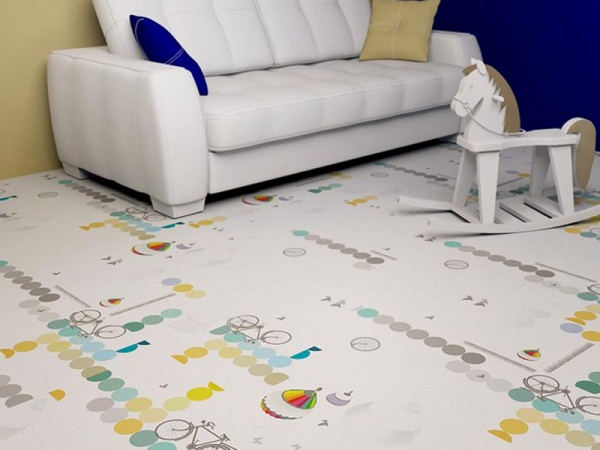 В каждой комнате своё напольное покрытие