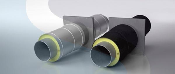 Опора неподвижная с ППУ изоляцией в защитной оболочке из ОЦ оцинкованной стали